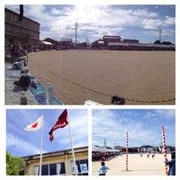 Photo taken at 米子市立弓ヶ浜小学校 by Kazutaka A. on 9/28/2013