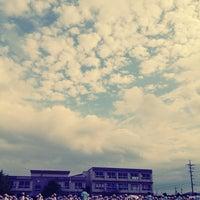Photo taken at 米子市立弓ヶ浜小学校 by Kazutaka A. on 9/28/2012