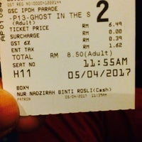 Photo taken at Golden Screen Cinemas (GSC) by ƥKasvin D. on 4/5/2017