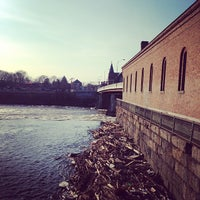 Photo taken at Pawtucket Gatehouse by Frank P. on 4/13/2014