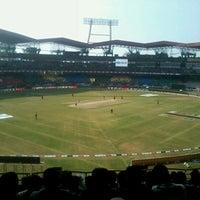 Photo taken at Jawaharlal Nehru Stadium by Jacob M. on 1/22/2012
