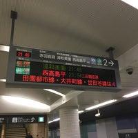 Photo taken at Namboku Line Meguro Station (N01) by りこてん on 4/18/2017