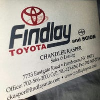 Photo taken at Findlay Toyota by Chandler K. on 11/5/2013