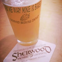 Photo taken at Sherwood Brewing Company by Joe N. on 7/13/2014