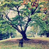 Photo taken at Fort Greene Park by Benjamin P. on 10/4/2012