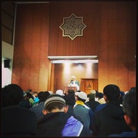Photo taken at Masjid Daarut Tauhiid by Dian D. on 3/13/2014