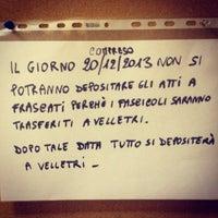 Photo taken at Tribunale di Frascati by SALA AVVOCATI FRASCATI on 12/9/2013