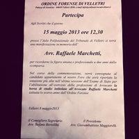 Photo taken at Ordine degli Avvocati di Velleri by SALA AVVOCATI FRASCATI on 5/10/2013