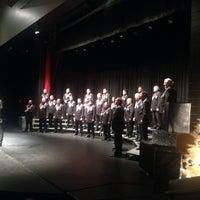 Photo taken at Rockhurst High School Rose Theatre by Michael B. on 12/21/2014