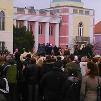Photo taken at Mohács Városháza by Varga A. on 3/2/2014