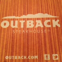 Photo taken at Outback Steakhouse by Lauren H. on 10/17/2012