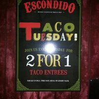 Photo taken at Escondido Mexican Cuisine & Tequila Bar by Arpie M. on 10/20/2013