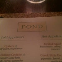 Photo taken at Fond by Wil R. on 10/15/2014