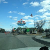Photo taken at World's Largest Amoco Sign by Melissa R. on 2/2/2013