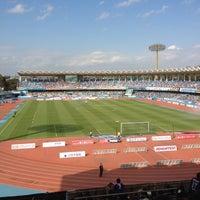 Photo taken at Todoroki Athletics Stadium by でい か. on 10/20/2012