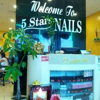 Photo taken at 5 stars nails by Larry P. on 5/27/2014