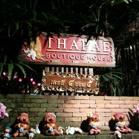 Photo taken at Thapae Boutique House by Eva S. on 11/1/2013