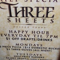 Photo taken at Three Sheets by Grisel S. on 8/24/2013