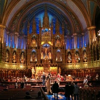 Photo taken at Notre-Dame Basilica of Montréal by Andy on 12/19/2012