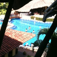 Photo taken at Hacienda Hotel & Spa by Luz R. on 10/26/2012