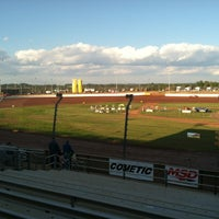 Photo taken at The Dirt Track at Charlotte Motor Speedway by Chris D. on 10/10/2012