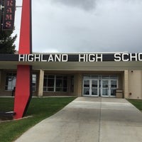 Photo taken at highland high school by Wade B. on 5/8/2015