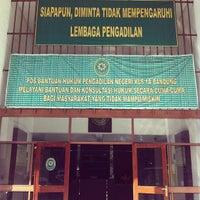 Photo taken at Pengadilan Negeri Bandung by Keyko A. on 4/30/2013