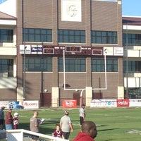 Photo taken at Jenks High School Football Stadium by Melissa C. on 10/20/2012