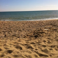 Photo taken at Platja de Sant Simó by Darktr3s L. on 10/27/2013