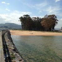 Photo taken at El Puntal by Playas de Asturias on 4/24/2014