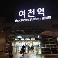 Photo taken at Yeocheon Stn. by Dowon Y. on 12/14/2012