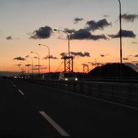 Photo taken at Onaruto Bridge by lyusuke on 1/4/2013