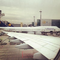 Photo taken at Lufthansa Flight LH 440 by Michael P. on 3/7/2013