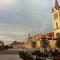 Photo taken at Fő tér by Henrietta Gréta I. on 10/7/2012