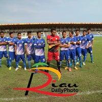 Photo taken at Stadion Kaharudin Nasution by hasrinaldi on 11/12/2016