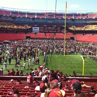 Photo taken at FedEx Field by Sports and a Latte on 4/27/2013