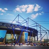 Photo taken at Metalist Stadium by Dmitriy G. on 5/4/2013