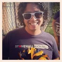 Photo taken at Stonewall Kickball by James H. on 10/21/2012