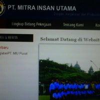 Photo taken at PT. MITRA INSAN UTAMA by Salman Hakim |. on 10/9/2012