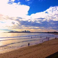 Photo taken at Mooloolaba Beach by Rental Express Property Management on 3/31/2013