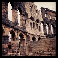 Photo taken at Arena Pula | The Pula Amphitheater by Albert B. on 9/15/2012