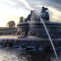 Photo taken at Gefion Fountain by Max R. on 7/10/2013
