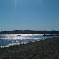 Photo taken at Mavi Bayrak Plajı by Banu D. on 8/5/2013