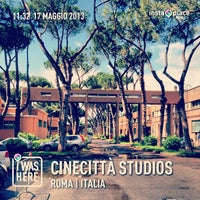 Photo taken at Cinecittà Studios by Claudio C. on 5/20/2013