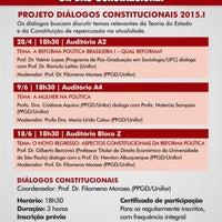 Photo taken at Mestrado e Doutorado em Direito Constitucional - PPGD/Unifor by Paulo M. on 6/9/2015