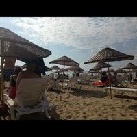 Photo taken at Pinar Otel beach club by Mustafa K. on 9/17/2016