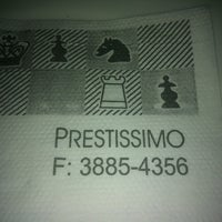 Photo taken at Prestíssimo Pizza Bar by Adriana R. on 11/24/2012