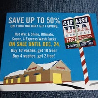 Photo taken at Car Wash USA Express by Tracey D. on 11/21/2013