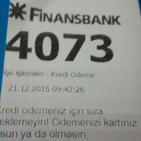 Photo taken at QNB Finansbank by 🔱BEŞİKTAŞLI A. on 12/21/2015