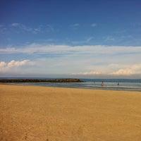 Photo taken at Leonardo Beach by Valentine M. on 10/24/2012